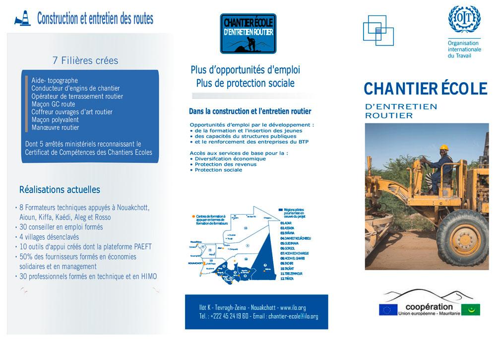 BTP Mauritanie- Dépliant Chantier École